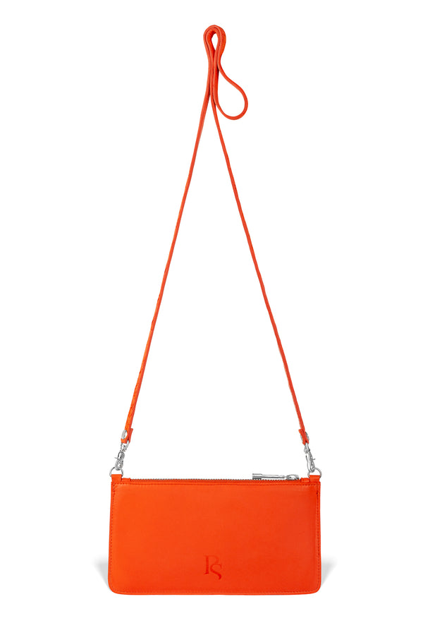responsible luxury orange pirarucu leather crossbody