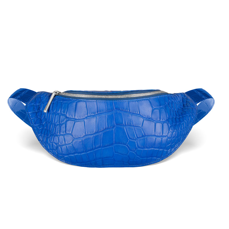 cobalt blue piper & skye mac pack in american alligator