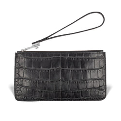Daya Wristlet - Midnight Black Alligator