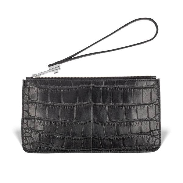 Daya Pouch - Midnight Black Alligator - PRE-ORDER