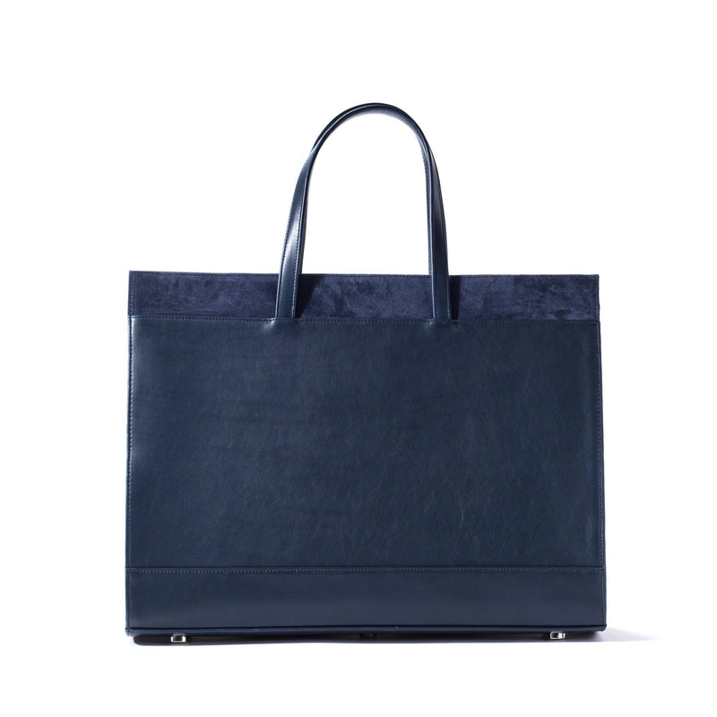 Braemar Tote - Evening Blue Pirarucu