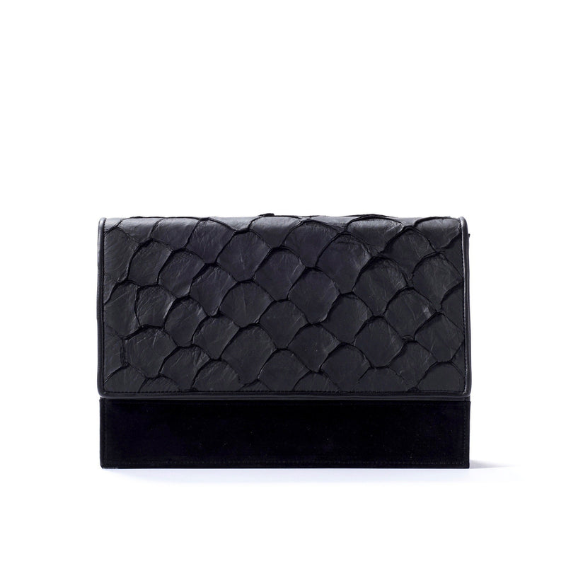 Brava Crossbody - Midnight Black Pirarucu