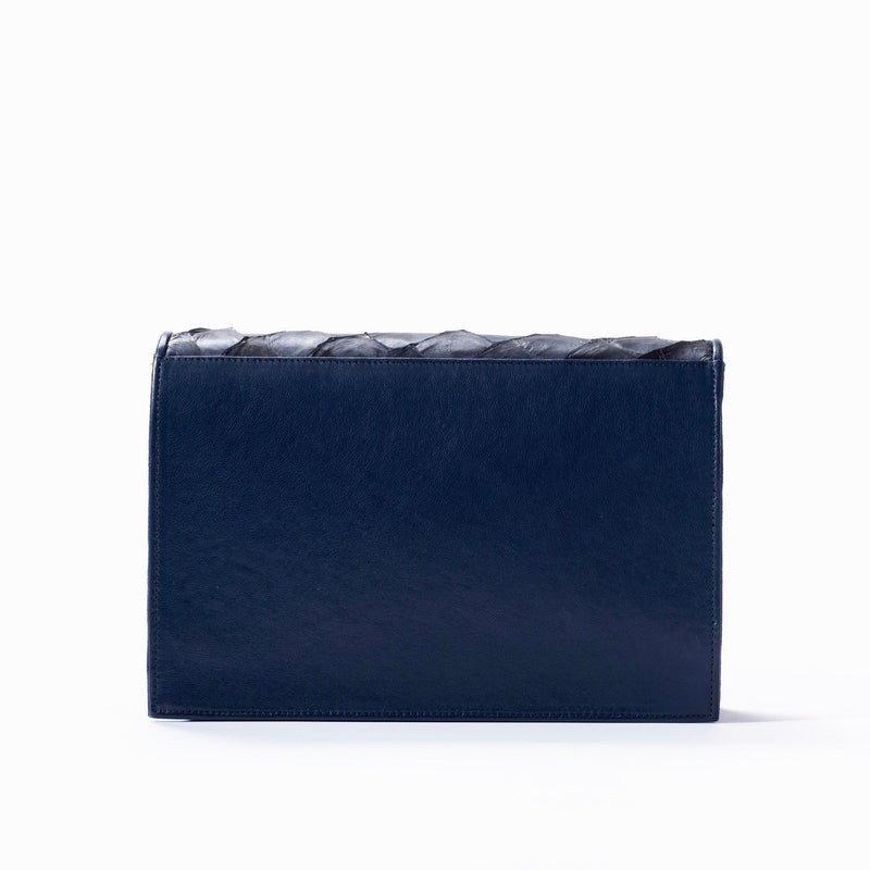 Brava Crossbody - Evening Blue Pirarucu