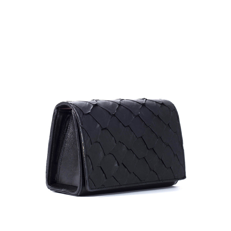 Lola Crossbody - Midnight Black Pirarucu