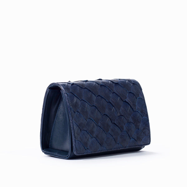 side view of responsible luxury lola crossbody by piper & skye