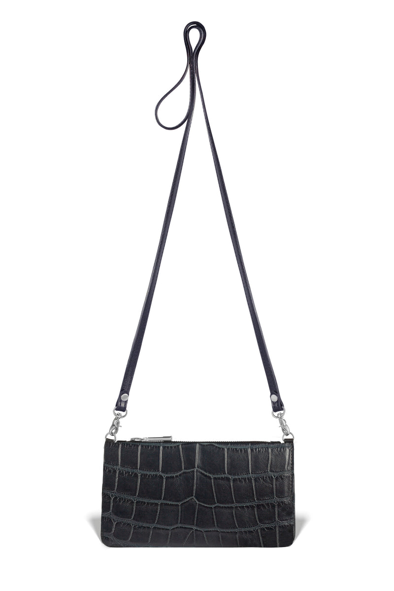 luxury alligator leather crossbody from piper & skye