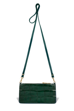 Nola Crossbody - Forest Green Alligator
