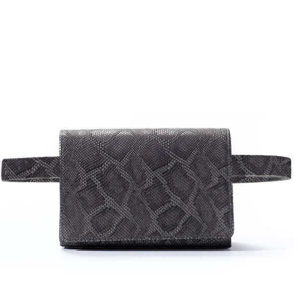 Cintura Beltbag - Gunmetal Embossed Leather