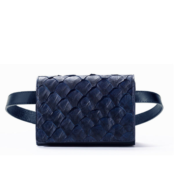 piper & skye belt bag in evening blue
