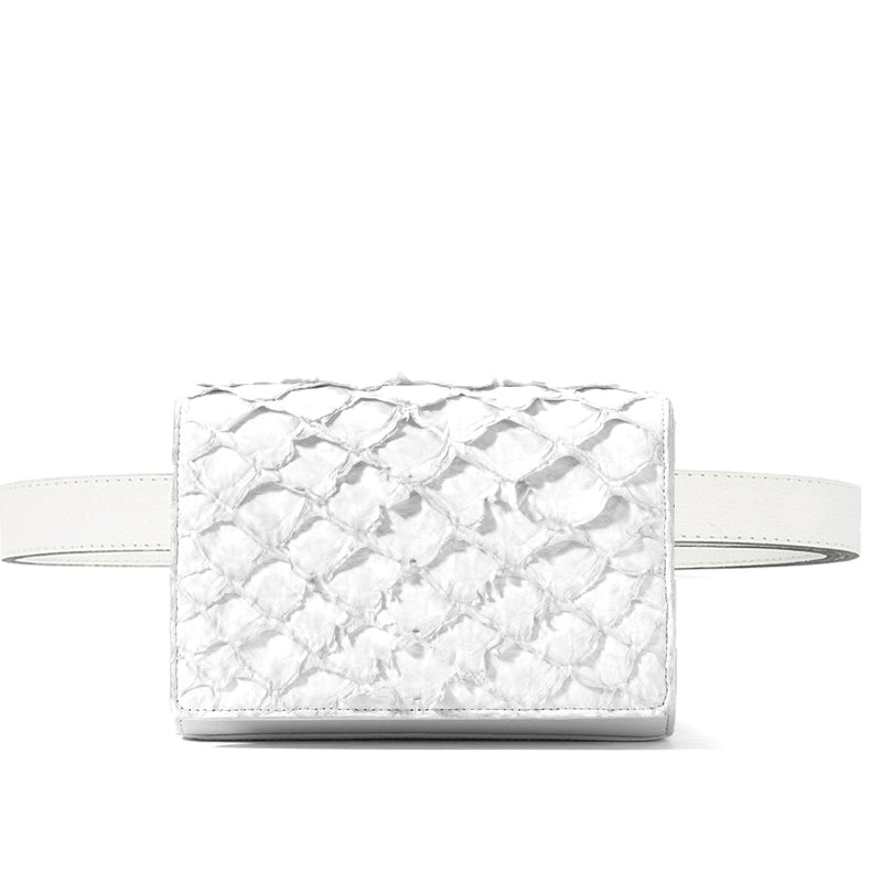 ivory pirarucu leather belt bag by piper & skye