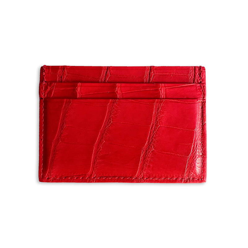 Floral, snake embossed leather cardholder from Piper & Skye