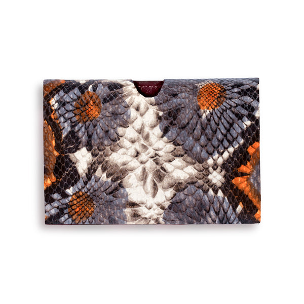 Billie Cardholder - Floral Embossed Leather