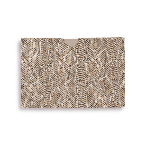 Billie Cardholder - Gold Embossed Leather
