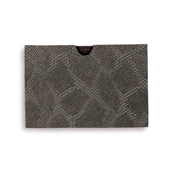 Billie Cardholder - Gunmetal Embossed Leather
