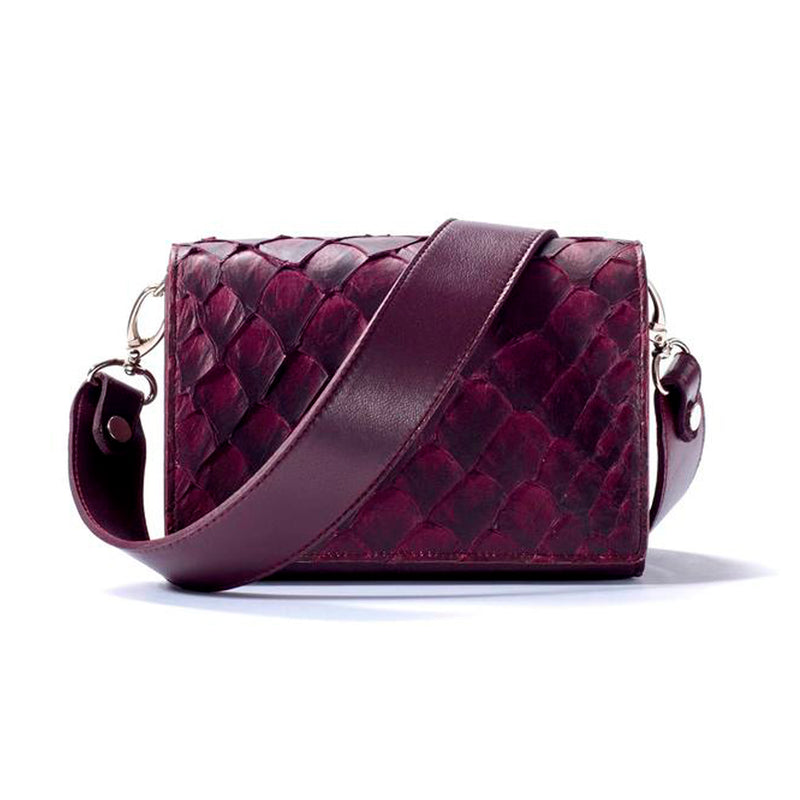 Lola Crossbody - Bordeaux Pirarucu