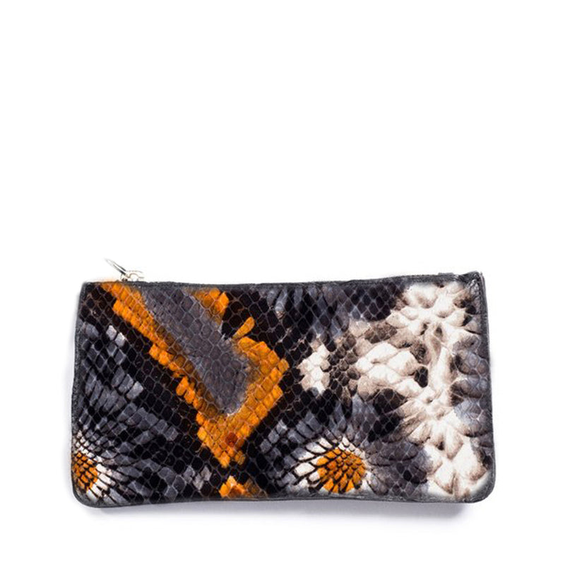 Caso Pouch - Floral Embossed Leather