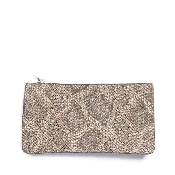 Caso Pouch - Gold Embossed Leather