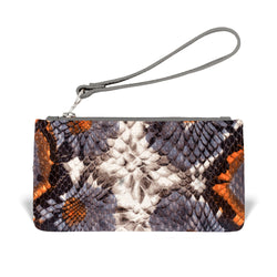 Daya Wristlet - Floral Embossed Leather