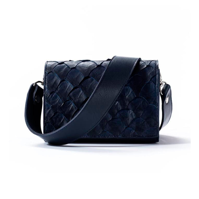 Lola Crossbody - Evening Blue Pirarucu - PRE-ORDER
