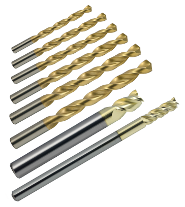 "80% Ar-15 Lower Receiver Tool Kits - 1/4""- 3 Flute - 3/4"" LOC - 4"" OAL - ZrN Coated 80% AR15-AR10 Lower Receiver Jig End Mill"