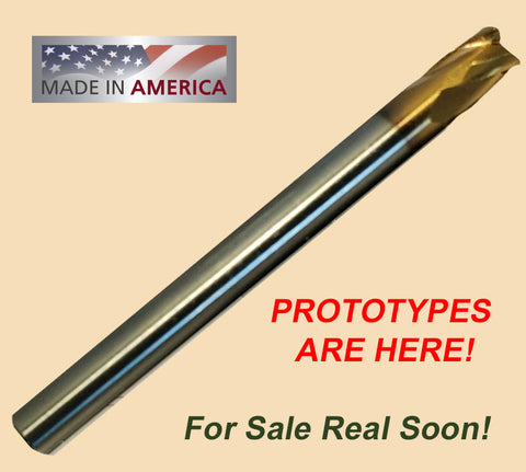 "3/16"" ""F55"" Coated Carbide End Mill, 1/8"" Dia,  4 Variable Flutes, .007 Corner Radius,.160 LOC, 2.0 OAL, 3/16"" Shank"