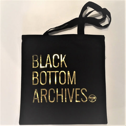 Black Bottom Archives Tote Bag