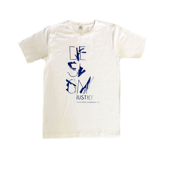 Design Justice T-Shirt With Blue Graphic
