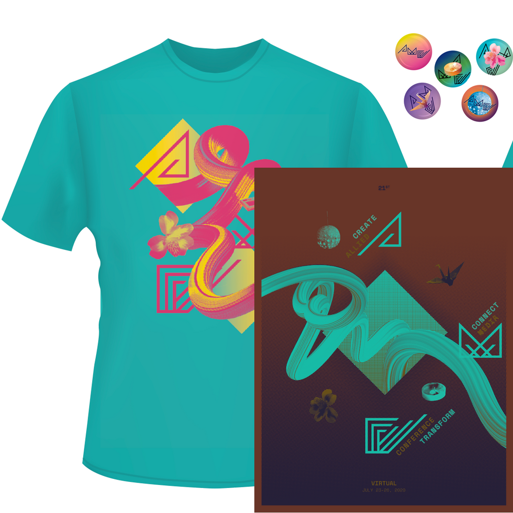 AMC2020 T-shirt + poster + buttons