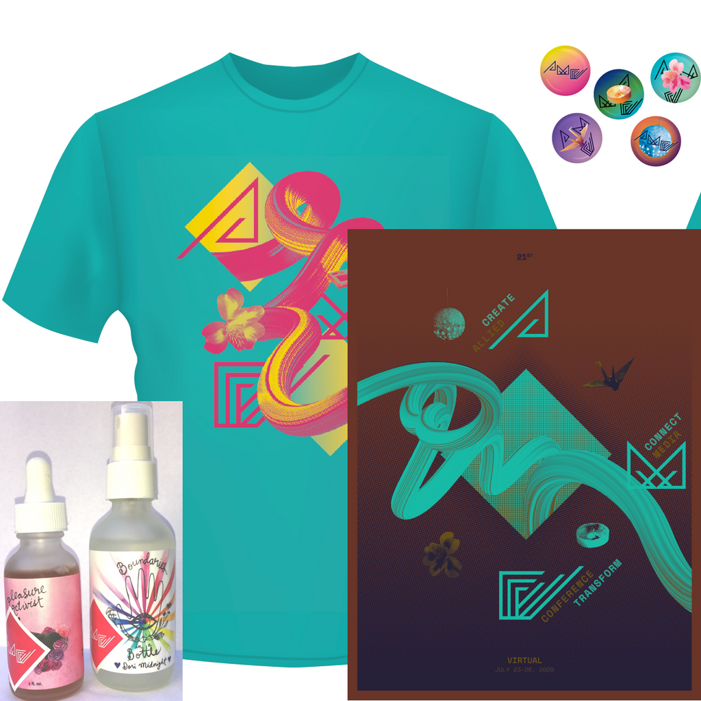 AMC2020 T-shirt + poster + buttons + tincture