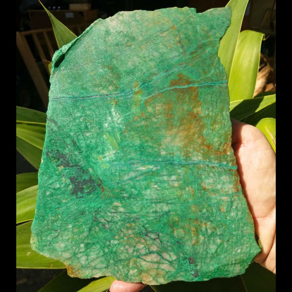 Large Chrysocolla Slab from the Congo (Zaire)
