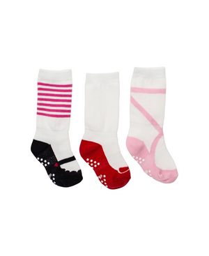 3 Pack Girls Mixed Shoe Designs