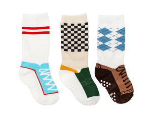 3 Pack Boys Mixed Shoe Socks