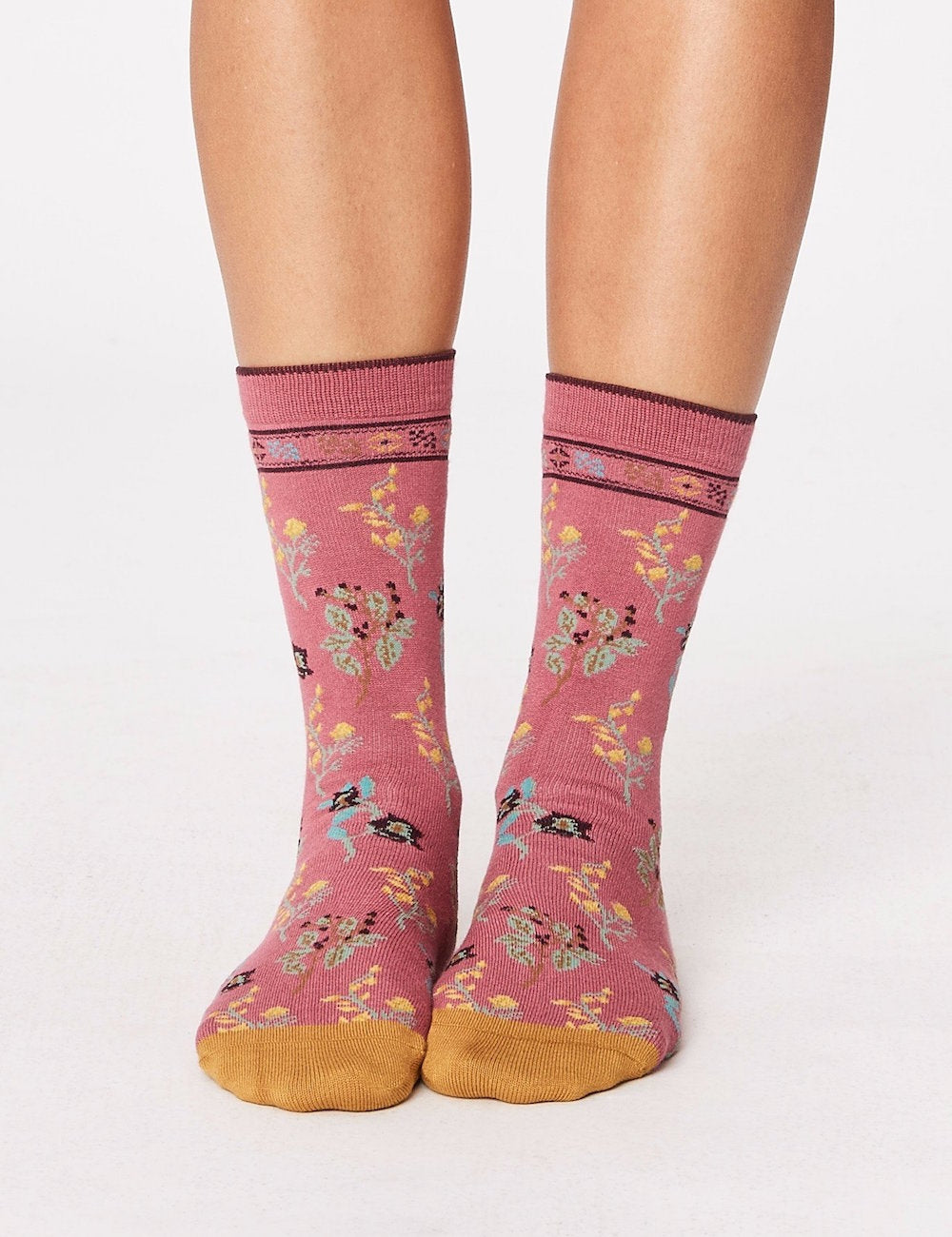 Thought Astrid Floral Bamboo Socks