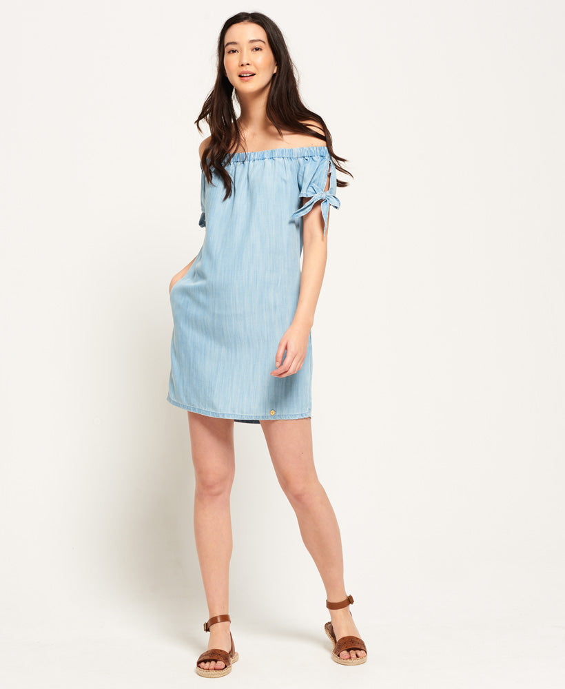 Superdry Alexia Off Shoulder Dress