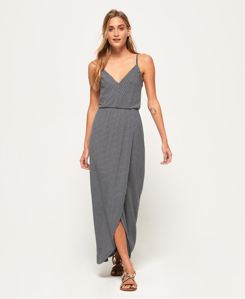 Superdry Stripe Wrap Dress