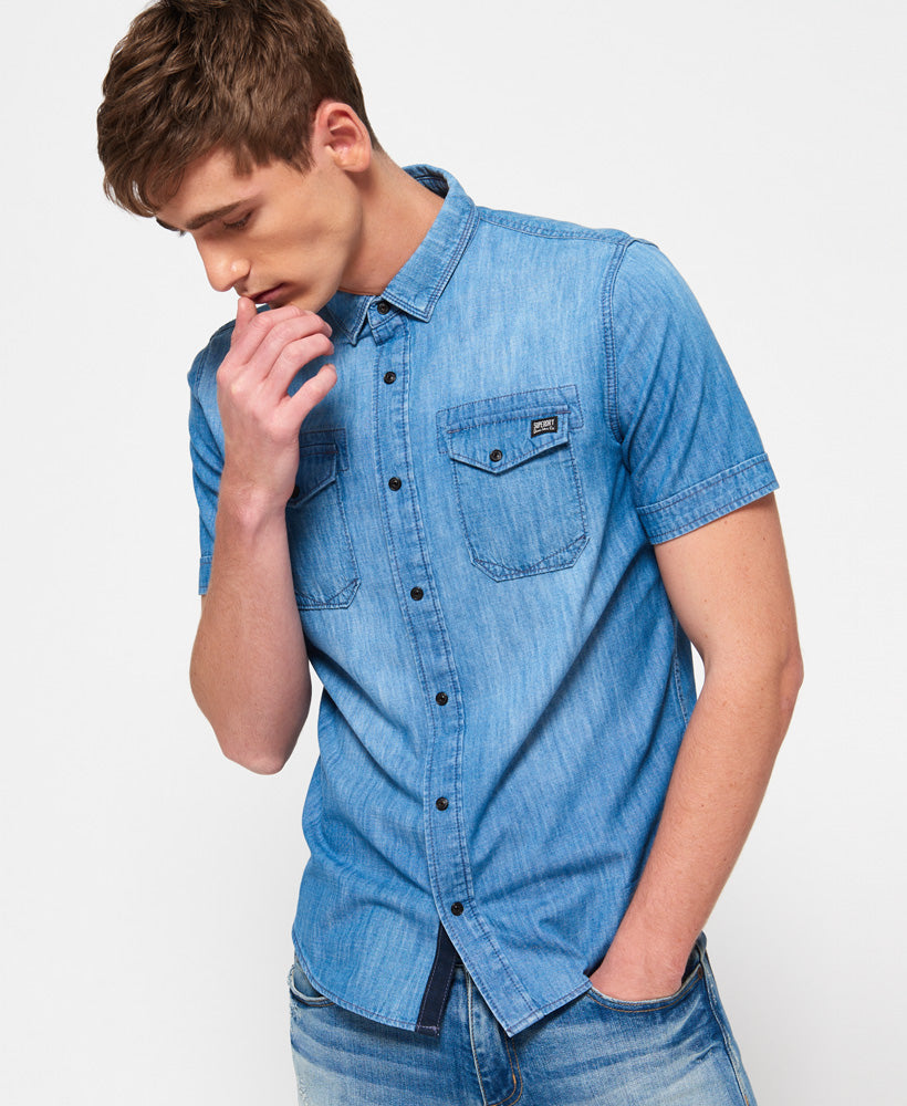 Superdry Dragway S/S Denim Shirt