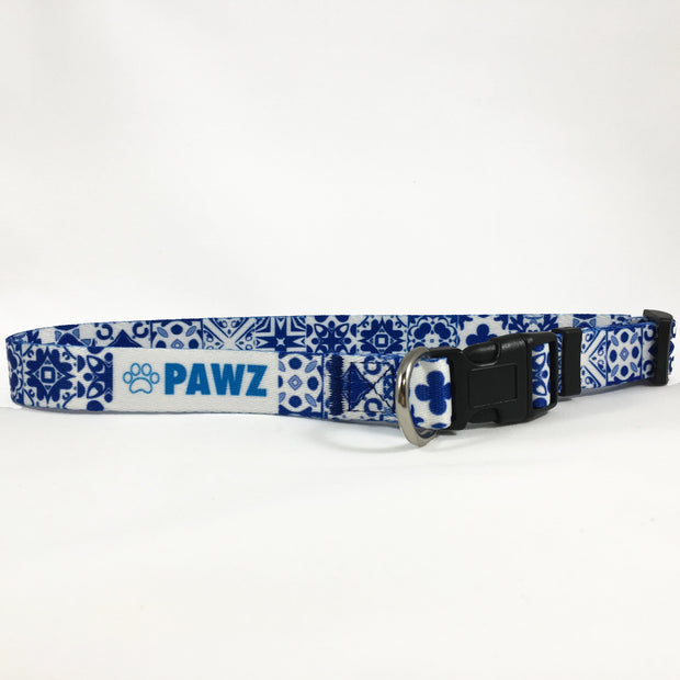 Pawz Blue Aztec Dog Collar - Pawz