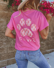 Pawz Energy Print Heather Heliconia Tee - Pawz