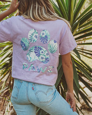 Pawz Purple Palms Lilac Tee - Pawz