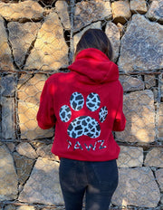 Pawz Antique Cherry Cow Print Hoodie