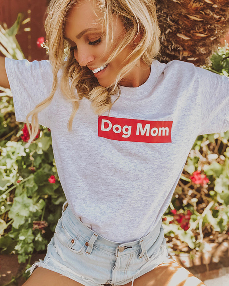 Ash Dog Mom Red Block Tee - Pawz