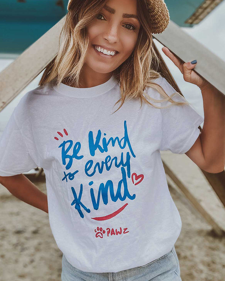 Be Kind to Every Kind White Tee - Pawz