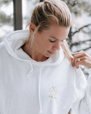 Pawz Be Kind to Every Kind Open Heart White Hoodie - Pawz
