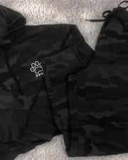 Pawz Black Camo Cropped Hoodie and Jogger Set - Pawz