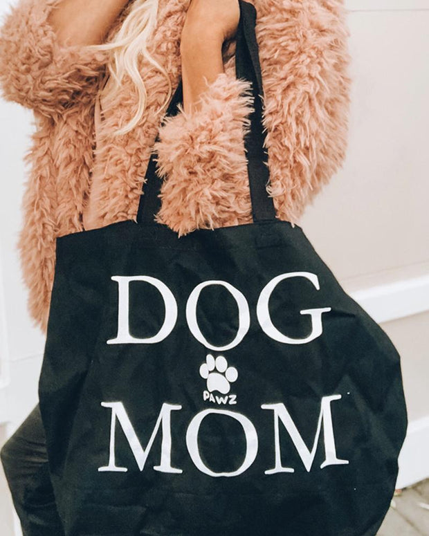 Pawz Mystery Stuffed Tote - Black Dog Mom - Pawz