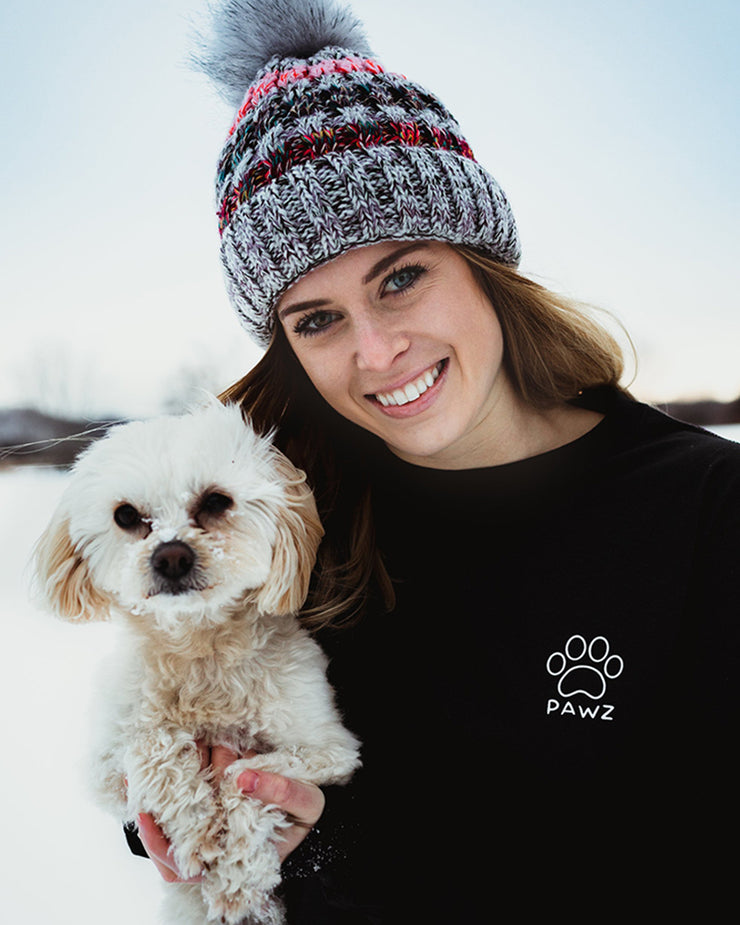 Black Ombre Flower Print Long Sleeve - Pawz