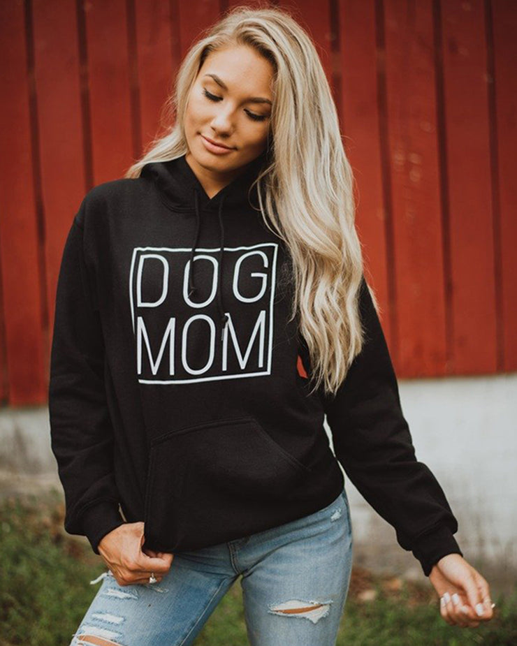 Black Simple Dog Mom Hoodie - Pawz