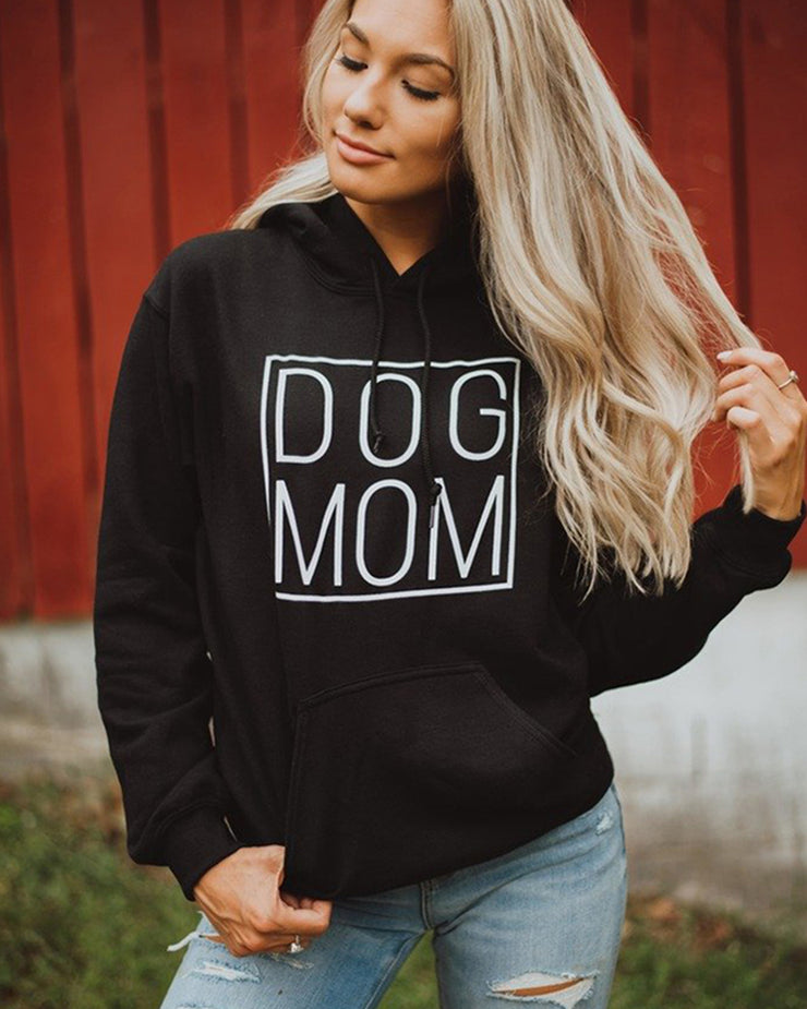 Pawz Simple Dog Mom Black Hoodie - Pawz