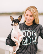 Black Tie Dye Simple Dog Mom Long Sleeve - Pawz