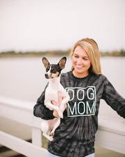 Pawz Black Tie Dye Simple Dog Mom Long Sleeve - Pawz